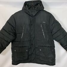 ROCAWEAR Men's Black Detachable Hood Puffer Winter Jacket Coat Parka 4XL NEW