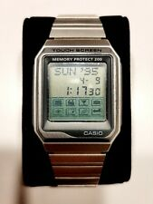 Casio Memory Protect 200 Vintage Touch Screen Watch Great Working Condition