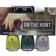 China Glaze Nail Polish On the Hunt Camo Mani Design Kit