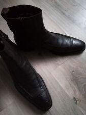 boots Cesare paciotti cuir 43,5 /9,5 noir marron dg ndc mode urban