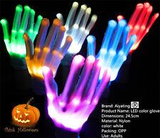 LED Handschuhe Leuchten Finger Beleuchtung Mitt Tanzen  Licht Blink Halloween