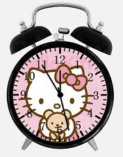 "Hello Kitty Alarm Desk Clock 3.75"" Home or Office Decor Z49 Nice For Gift"