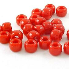 Plastic Crow Beads Red 9mm 1000 Pack