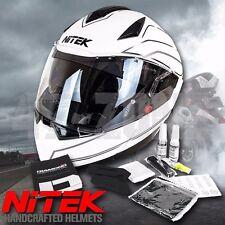 NiTEK Transformer Modular Motorcycle Helmet W/ Bluetooth Option Dual Visor DOT
