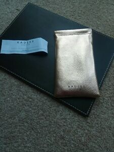 RADLEY London Glasses / Sunglasses Case / Pouch Metalic Gold New SOFT