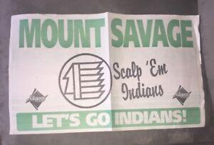 Vintage Mt. Savage High School - Mt. Savage Maryland - Newsprint Banner