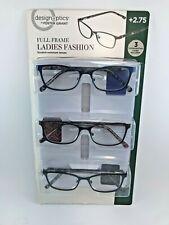 Design Optics By Foster Grant 3 Readers +2.75 Ladies OPEN BOX