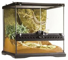 Glass Reptile Cage Terrarium Frog Iguana Snake Lizard Habitat 2 Doors Waterproof