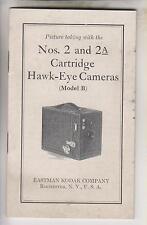 1939 BOOKLET - No. 2 & 2A CARTRIDGE HAWK-EYE CAMERAS B - EASTMAN KODAK COMPANY