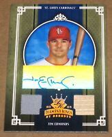 ~2005 Diamond Kings Signature Materials Jim Edmonds AUTOGRAPH PATCH BAT Card /10