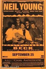 Neil Young / Beck 2000 San Diego Concert Tour Poster -Neil With His Touring Band