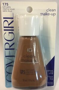 CoverGirl Clean MakeUp Liquid Foundation SOFT SABLE #175 NEW.