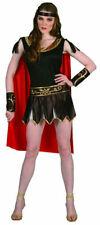 SEXY SUPERHERO COSTUME LADIES SPARTAN ROMAN GLADIATOR FANCY DRESS OUTFIT 10-12