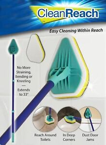 Clean Reach 3 in 1 Cleaning Pad Brush Scrubber Cleaning Product Handle & 3x Pads