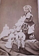 Cdv Sweet Little Girl In A Shoe With 16 Or More Of Her Dolls