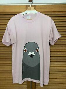 pigeon t-shirt, Medium, Japanese, MIXKO, Pink