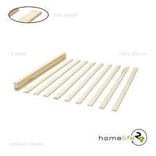Sommier pour lit double avec 15 lattes bois massif