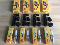 HONDA CB650 Z/B SOHC 1979-1981 NGK SPARK PLUGS AND BLACK CAPS FREE POST!