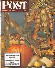 The Saturday Evening Post October 27 1945 John Atherton Harvest Birthday Gift