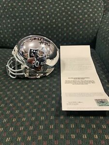 JERRY RICE Raiders Signed Painted Chrome Mini Helmet Upper Deck UDA COA 1/1 !