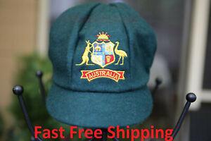 Australian Classic Baggy Green Cricket Cap Hat Aussie Fast Free Shipping