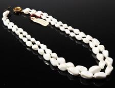 "19"" 2 strand necklace gradual white triangle nugget Czech vintage glass beads"