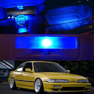 90-93 Acura Integra BLUE Xenon LED Bulb Package Map Dome Trunk License Plate 6pc