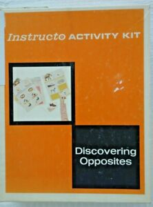 1966 Kids Pre El School Educational Instructo Activity Kit Discovering Opposites