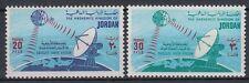 Jordanien Jordan 1975 ** Mi.984/85 Satellit Erdfunkstelle Satellite Earth Statio