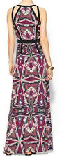 Piperlime Sabine Wild Orchid Lunaria Mirror Porcelain Print Maxi Dress 4 6 S