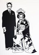 couple japonais sérigraphie originale signée x/30 Florence Lucas aka kim japon