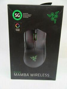 Brand New Razer Mamba Wireless Optical Gaming Mouse with RGB Lighting - Black
