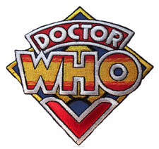 """DOCTOR WHO Original British TV Series Logo 3 1/2"""" Wide Embroidered PATCH"""