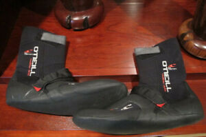 O'Neill Mens 12 Psycho Tech 5mm Wetsuit Boots Arch Strap - Excellent Condition