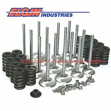"New Z28 Springs, 2.02"" & 1.6"" Stainless Steel Valve Kit Chevy sb 400 350 327"