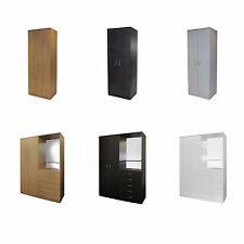 Wardrobe Bedroom furniture 2 Door Chest of drawers Hallway storage Mirror -4210