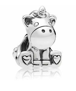 Beautiful Bruno The Unicorn Charm With Pandora Pop Up Box And Gift Wrap