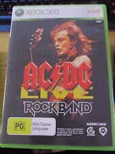 Pre-owned Xbox 360 AC/DC Live Rockband  game  manual