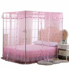 Jqwupup Mosquito Net for Bed - 4 Corner Canopy for Beds Canopy Bed Curtains B.