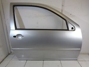 98-04 VW GOLF MK4 3DR FRONT DRIVER RIGHT OFF SIDE BARE DOOR IN SILVER  LA7W