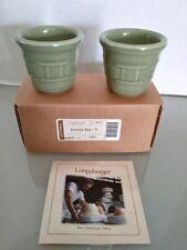 (6658) Longaberger Votive Set 2 Piece Pottery