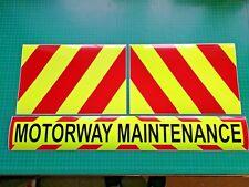 Motorway Maintenance Magnet Highways Road Works Chevron Sticker package KIT