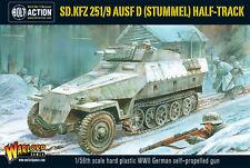 SDKFZ 251/9 STUMMEL GERMAN HALFTRACK - BOLT ACTION - WARLORD - SENT FIRST CLASS