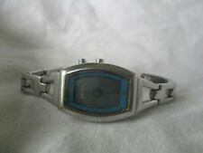 Fossil Big Tic Silver Toned Bracelet Wristwatch Water Resistant WORKING!