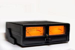 Analog VU Meter Audio Visualiser Warm Lamp Display dB Meters STEREO Vintage Look