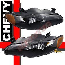00-05 Chevy Monte Carlo SS Black Housing Headlights RH + LH 01 02 03 04