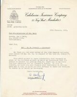 Caledonian Insurance Company Manchester 1965 Re Deceased Letter Ref 37192
