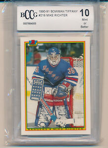 1990 Bowman Tiffany Mike Richter (Rookie Card) (#218) BCCG10 BCCG