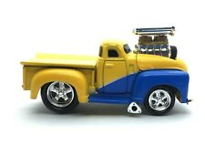 Muscle Machines 1953 53 Chevy Pick Up Truck Yellow & Blue Die Cast 1/64 Loose