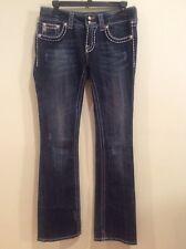 Women's Miss Me Blue Denim Jeans Waist 28 Inseam 33. JPW5066UX